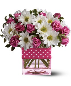 Teleflora's Polka Dots and Posies in Bakersfield CA, White Oaks Florist