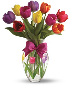 Teleflora's Spring Tulips Bouquet in London ON, Lovebird Flowers Inc