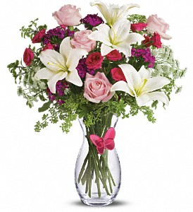 Pink Butterfly Bouquet by Teleflora in Bowmanville ON, Bev's Flowers