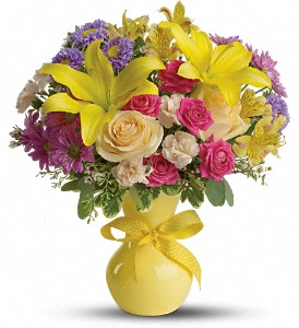 Teleflora's Color It Happy in Oakland City IN, Sue's Flowers & Gifts