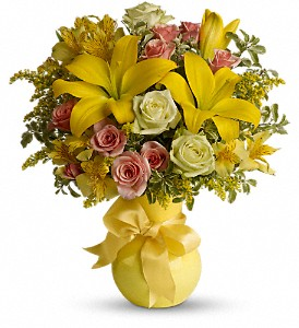 Teleflora's Sunny Smiles in Patchogue NY, Mayer's Flower Cottage