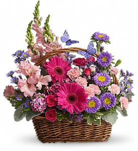 Country Basket Blooms in Greensboro NC, Botanica Flowers and Gifts