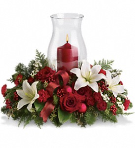 Holiday Glow Centerpiece in Farmington NM, Broadway Gifts & Flowers, LLC