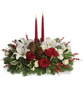 Christmas Wishes Centerpiece in Kelowna BC, Burnetts Florist & Gifts