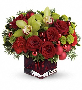 Teleflora's Merry & Bright in Amherst NY, The Trillium's Courtyard Florist
