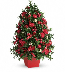 Deck the Halls Tree in Amherst NY, The Trillium's Courtyard Florist