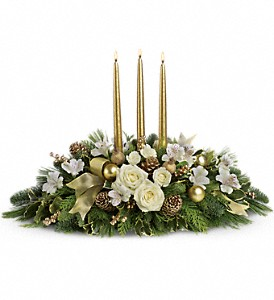 Royal Christmas Centerpiece in Oklahoma City OK, Array of Flowers & Gifts