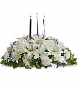 Silver Elegance Centerpiece in Branford CT, Myers Flower Shop