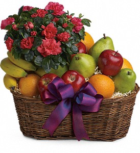 Fruits and Blooms Basket in Wolfeboro Falls NH, Linda's Flowers & Plants
