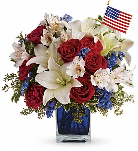 America the Beautiful by Teleflora in Royersford PA, Three Peas In A Pod Florist