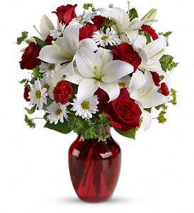 Be My Love Bouquet with Red Roses in Northport NY, The Flower Basket