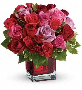 Madly in Love Bouquet with Red Roses by Teleflora in Meadville PA, Cobblestone Cottage and Gardens LLC