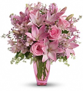 Teleflora's Pink Pink Bouquet with Pink Roses in Prince George BC, Prince George Florists Ltd.