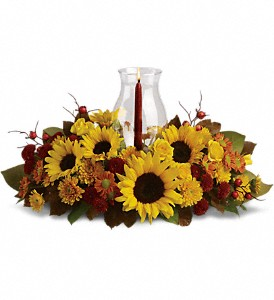 Sunflower Centerpiece in Port Coquitlam BC, Davie Flowers