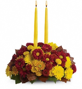 Harvest Happiness Centerpiece in Oklahoma City OK, Array of Flowers & Gifts