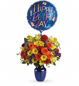 Fly Away Birthday Bouquet in Dayville CT, The Sunshine Shop, Inc.