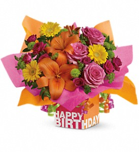 Teleflora's Rosy Birthday Present in Abington MA, The Hutcheon's Flower Co, Inc.