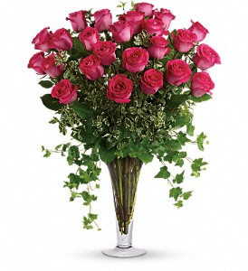 Dreaming in Pink - Long Stemmed Pink Roses in Thornhill ON, Wisteria Floral Design