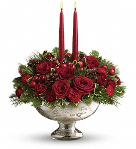 Teleflora's Mercury Glass Bowl Bouquet in Oklahoma City OK, Array of Flowers & Gifts