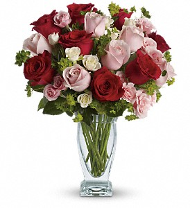 Cupid's Creation with Red Roses by Teleflora in Palm Springs CA, Palm Springs Florist, Inc.