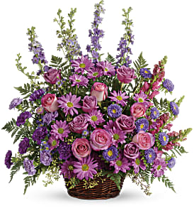 Gracious Lavender Basket in Zephyrhills FL, Talk of The Town Florist