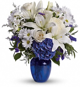 Beautiful in Blue in San Clemente CA, Beach City Florist