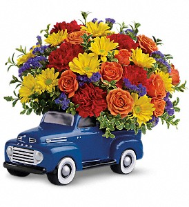 Teleflora's '48 Ford Pickup Bouquet in Amherst NY, The Trillium's Courtyard Florist