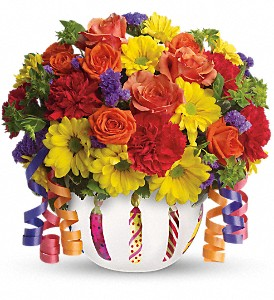 Teleflora's Brilliant Birthday Blooms in DeKalb IL, Glidden Campus Florist & Greenhouse