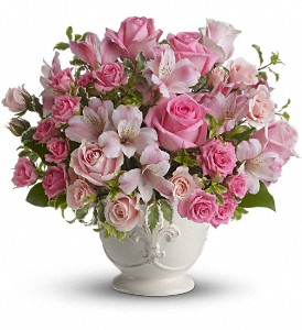 Teleflora's Pink Potpourri Bouquet with Roses in Brooklyn NY, Artistry In Flowers