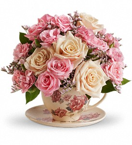 Teleflora's Victorian Teacup Bouquet in Kelowna BC, Enterprise Flower Studio