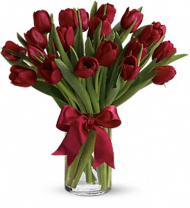 Radiantly Red Tulips in Lake Worth FL, Belle's Wonderland Orchids & Flowers