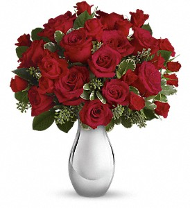 Teleflora's True Romance Bouquet with Red Roses in Edmonton AB, Petals For Less Ltd.