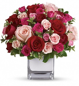 Teleflora's Love Medley Bouquet with Red Roses in Austin TX, Ali Bleu Flowers