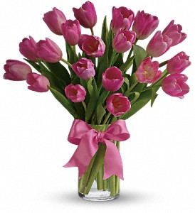 Precious Pink Tulips in Chicago IL, Wall's Flower Shop, Inc.