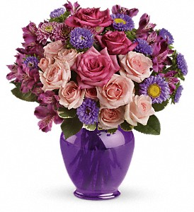 Teleflora's Purple Medley Bouquet with Roses in Oklahoma City OK, Array of Flowers & Gifts