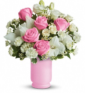 Teleflora's Pink and White Delight in Bowmanville ON, Bev's Flowers