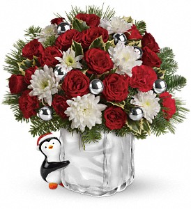 Teleflora's Send a Hug Penguin Bouquet in Anchorage AK, Flowers By June