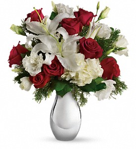 Teleflora's Silver Noel Bouquet in Abington MA, The Hutcheon's Flower Co, Inc.