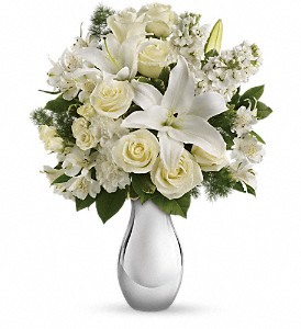Teleflora's Shimmering White Bouquet in Naples FL, Gene's 5th Ave Florist