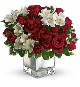 Teleflora's Christmas Blush Bouquet in Naples FL, Gene's 5th Ave Florist