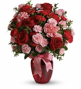 Dance with Me Bouquet with Red Roses in Kent OH, Richards Flower Shop