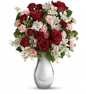 Teleflora's Crazy for You Bouquet with Red Roses in Reading PA, Heck Bros Florist