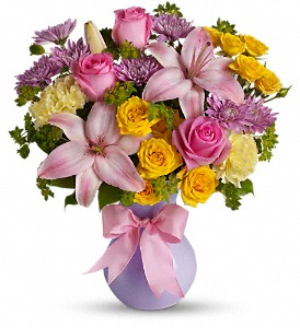 Teleflora's Perfectly Pastel in Utica NY, Chester's Flower Shop And Greenhouses