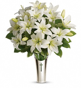 Teleflora's Sacred Cross Bouquet in Stuart FL, Harbour Bay Florist