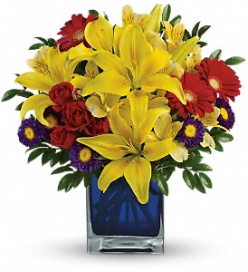 Teleflora's Blue Caribbean in Spring TX, A Yellow Rose Floral Boutique