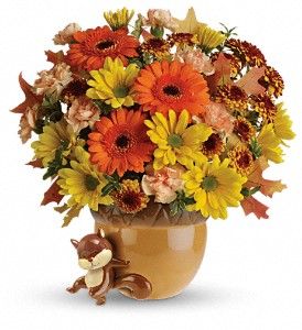 Teleflora's Send a Hug Fetching Fall Bouquet in Fort Lauderdale FL, Brigitte's Flower Shop