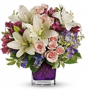 Teleflora's Garden Romance in Lewiston ME, Val's Flower Boutique, Inc.