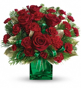 Teleflora's Yuletide Spirit Bouquet in Williston ND, Country Floral