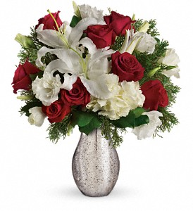 A Christmas Kiss by Teleflora in Vancouver BC, Davie Flowers