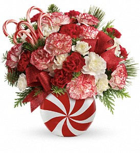 Teleflora's Peppermint Christmas Bouquet in Alexandria MN, Anderson Florist & Greenhouse